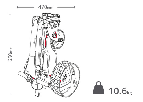 Chariot Motocaddy M1 frein